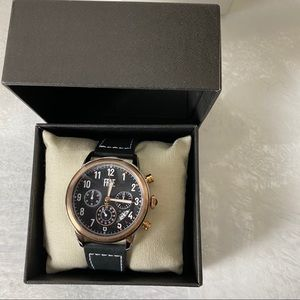 Frye Men's Graham Chronograph Black Leather Watch